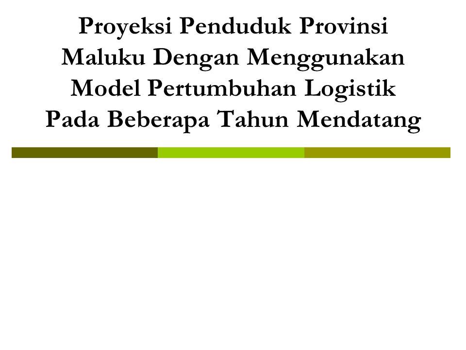 Proyeksi Penduduk Provinsi Maluku Dengan Menggunakan Model Pertumbuhan Logistik Pada Beberapa Tahun Mendatang