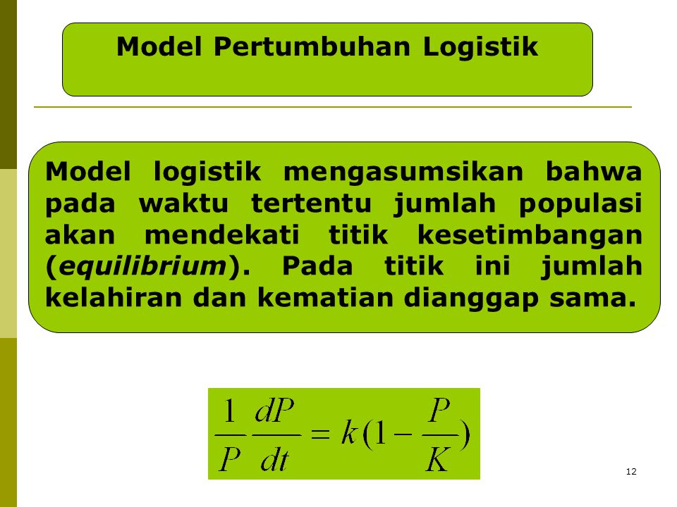 Model Pertumbuhan Logistik