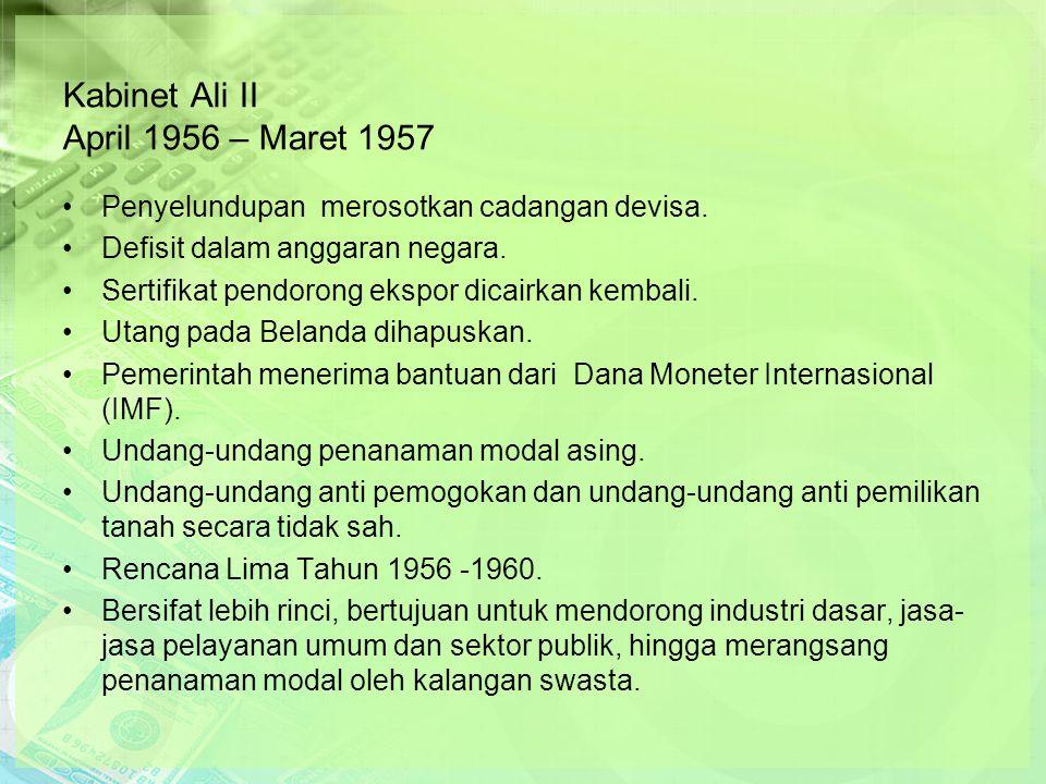 Kabinet Ali II April 1956 – Maret 1957