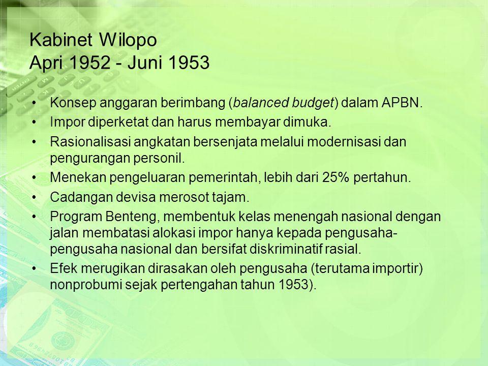 Kabinet Wilopo Apri 1952 - Juni 1953