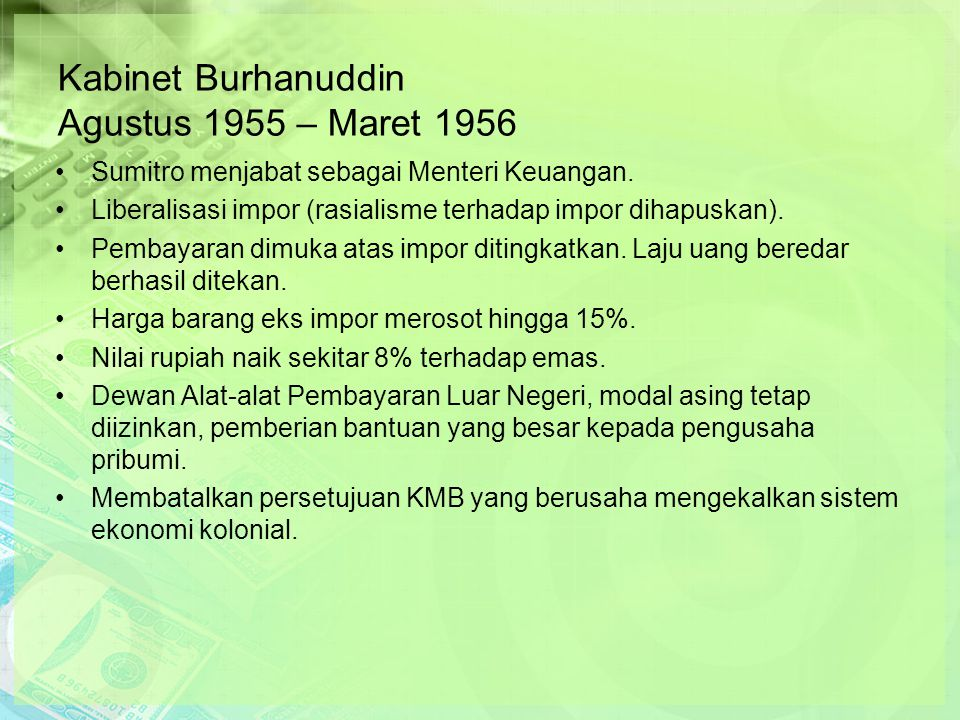 Kabinet Burhanuddin Agustus 1955 – Maret 1956