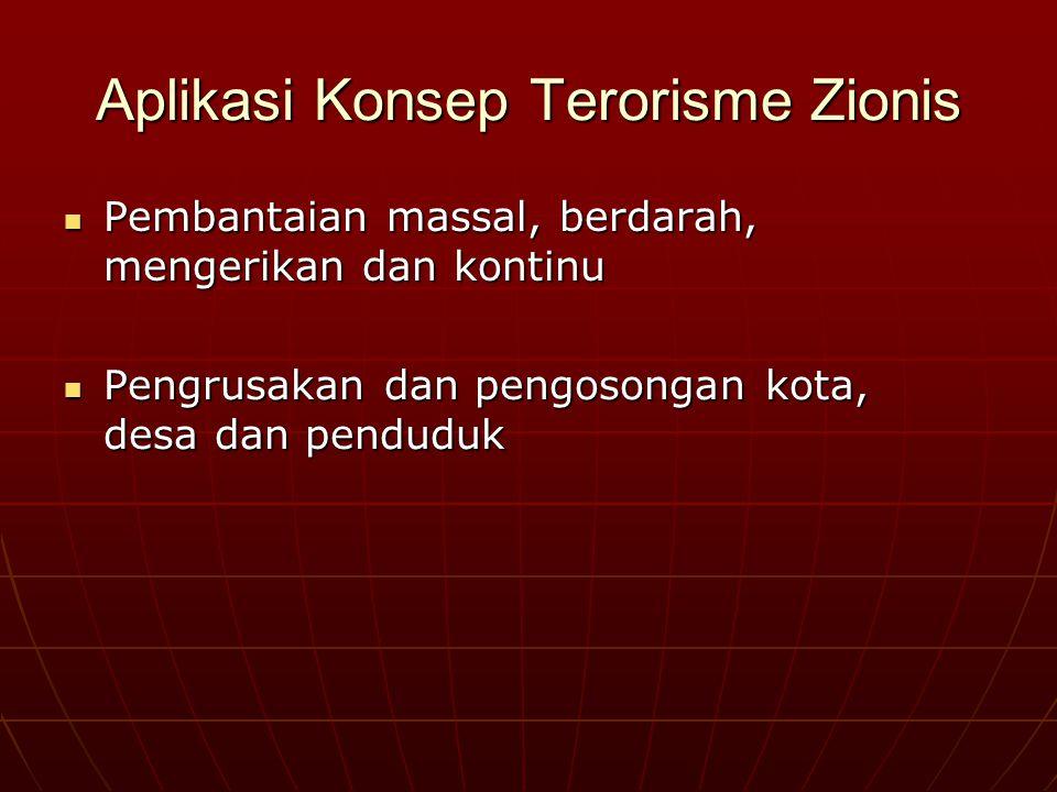 Aplikasi Konsep Terorisme Zionis