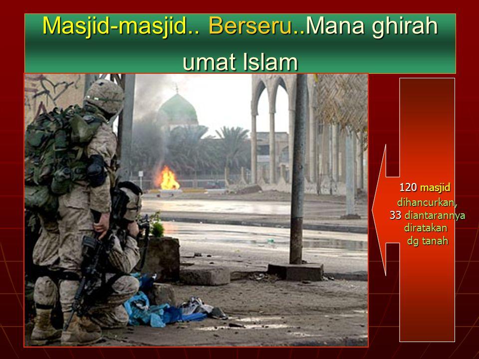 Masjid-masjid.. Berseru..Mana ghirah umat Islam
