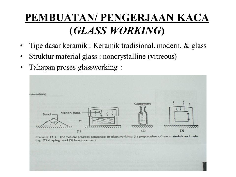 PEMBUATAN/ PENGERJAAN KACA (GLASS WORKING)