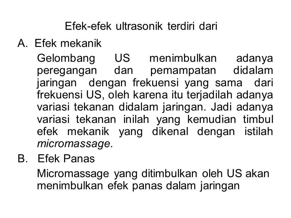 Efek-efek ultrasonik terdiri dari
