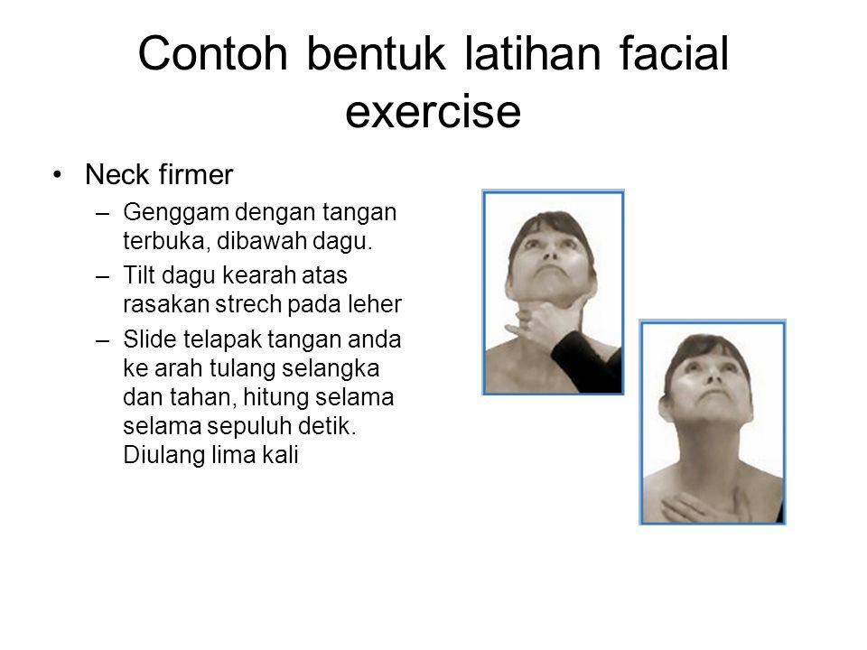 Contoh bentuk latihan facial exercise
