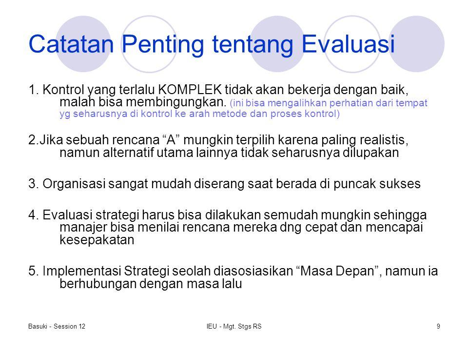Catatan Penting tentang Evaluasi