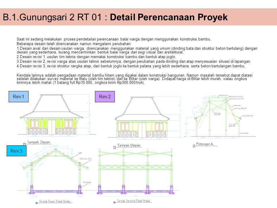 B.1.Gunungsari 2 RT 01 : Detail Perencanaan Proyek