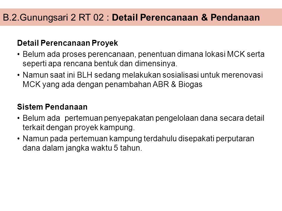 B.2.Gunungsari 2 RT 02 : Detail Perencanaan & Pendanaan
