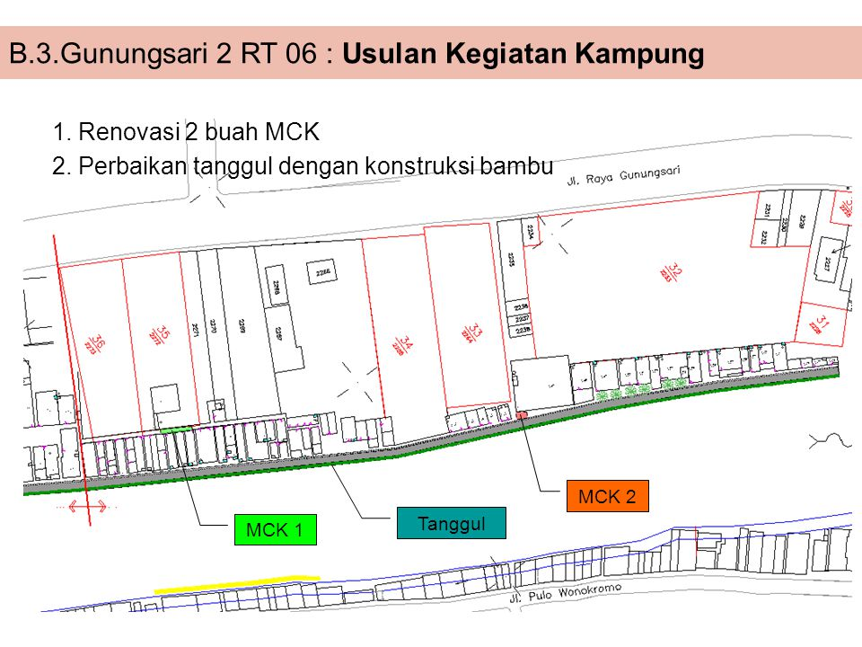 B.3.Gunungsari 2 RT 06 : Usulan Kegiatan Kampung