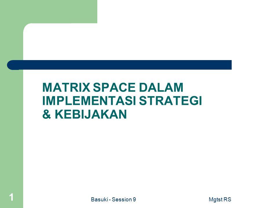 MATRIX SPACE DALAM IMPLEMENTASI STRATEGI & KEBIJAKAN