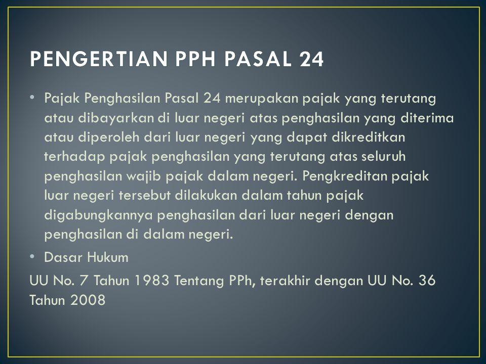 PENGERTIAN PPH PASAL 24