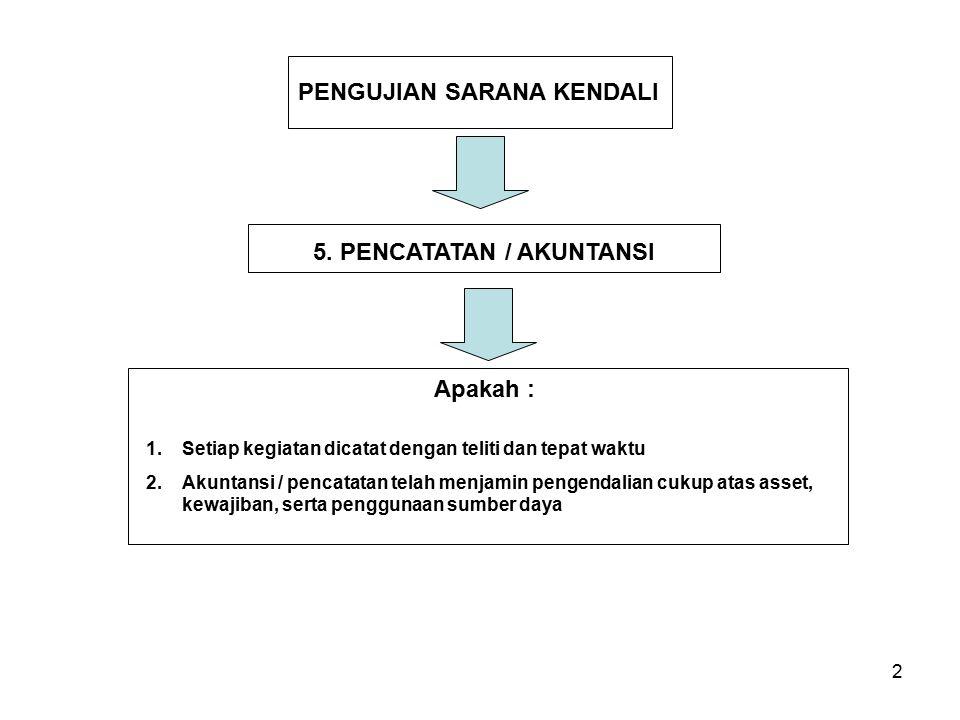 5. PENCATATAN / AKUNTANSI