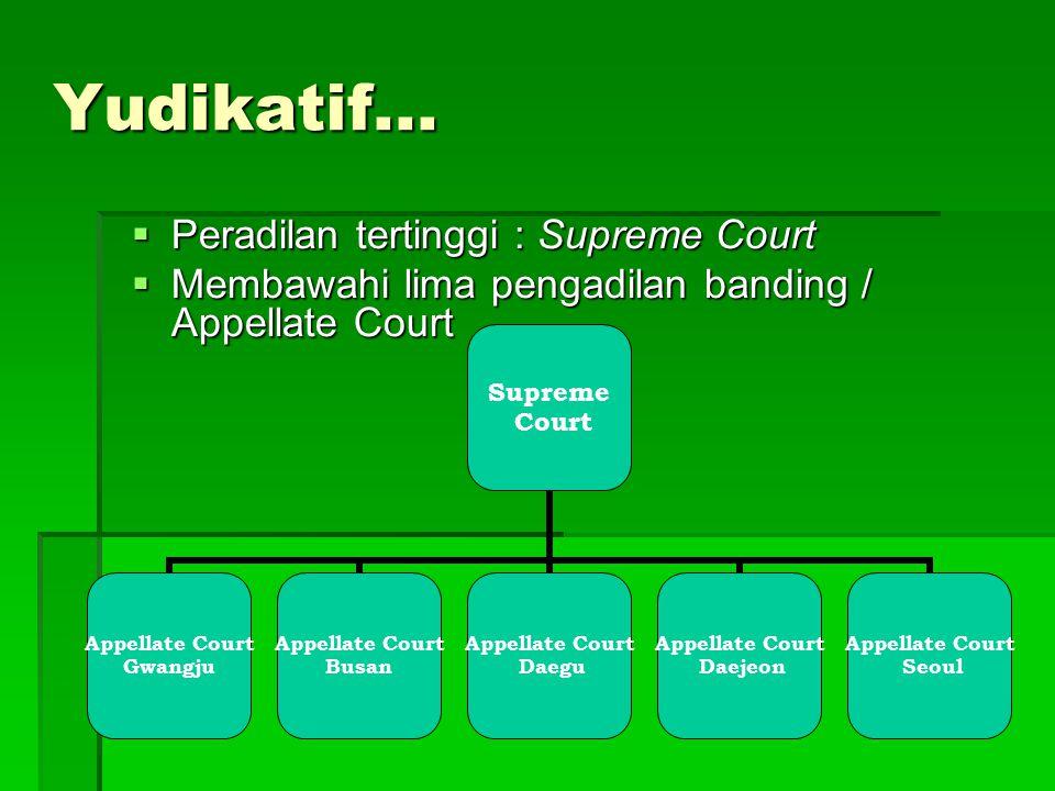 Yudikatif... Peradilan tertinggi : Supreme Court