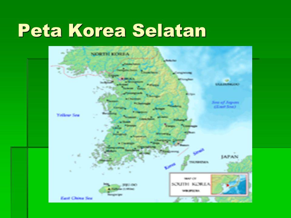 Peta Korea Selatan