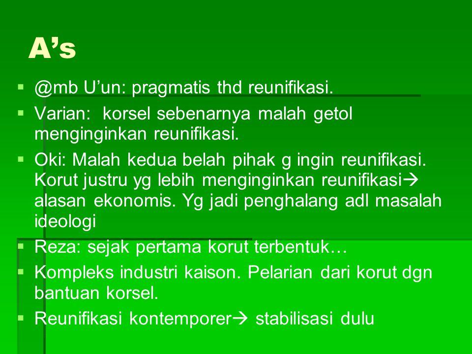 A's @mb U'un: pragmatis thd reunifikasi.