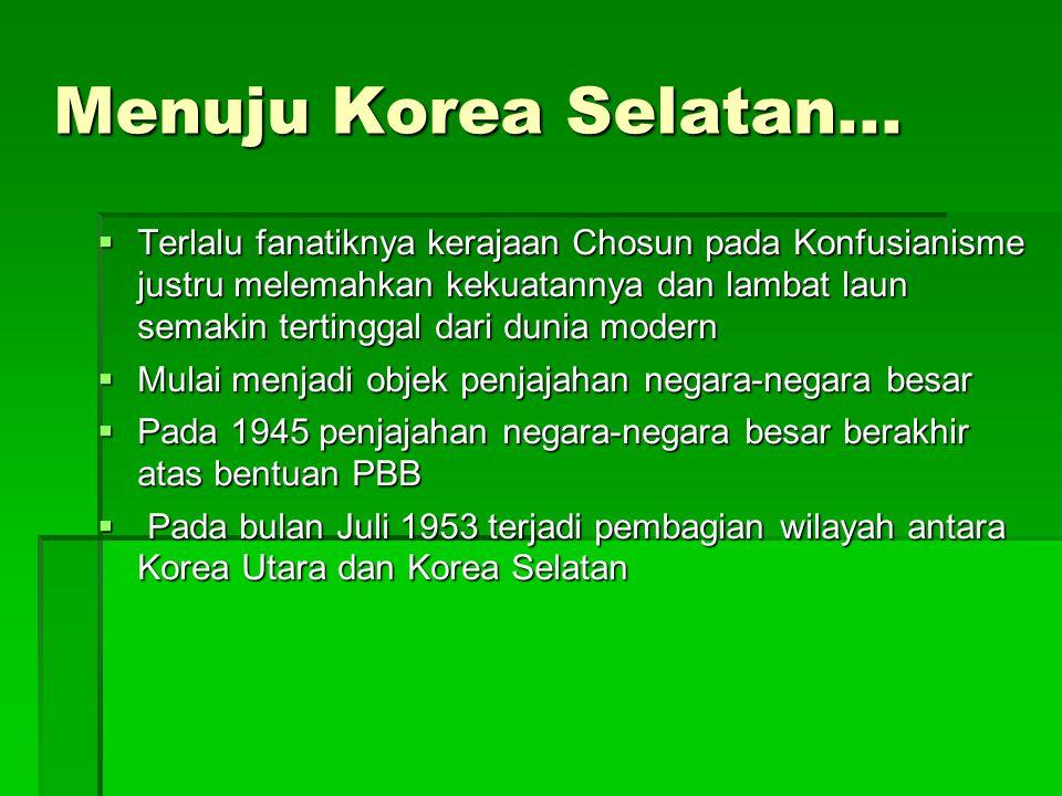 Menuju Korea Selatan...