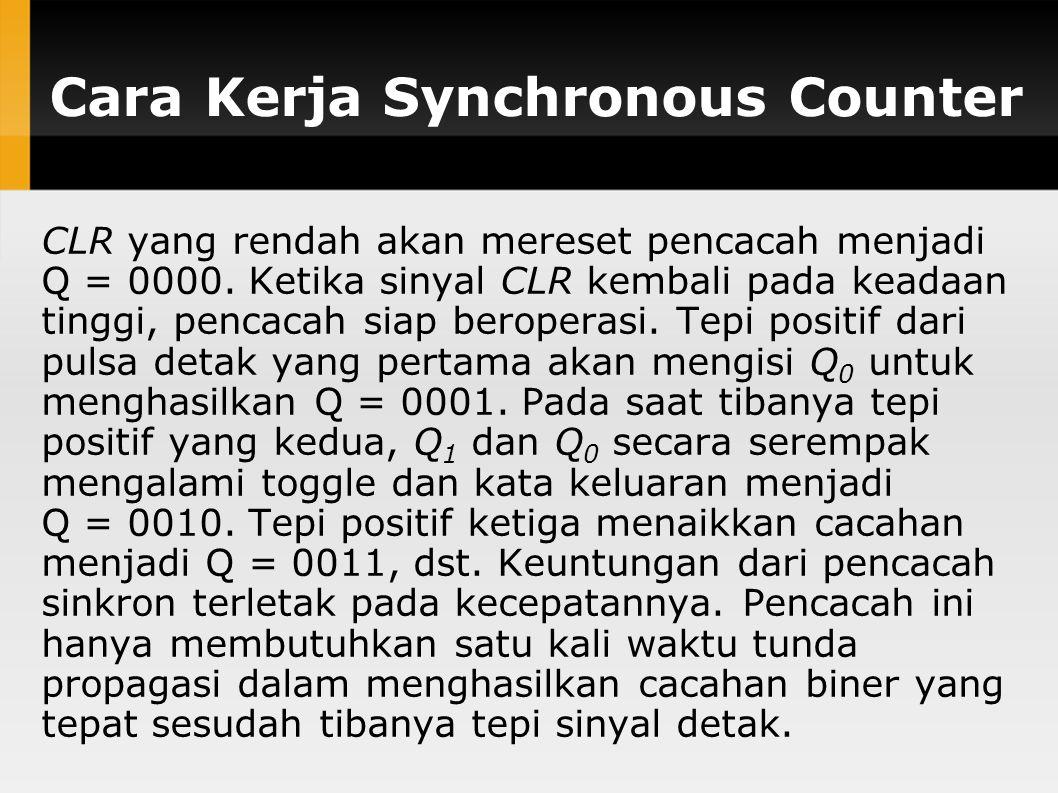 Cara Kerja Synchronous Counter