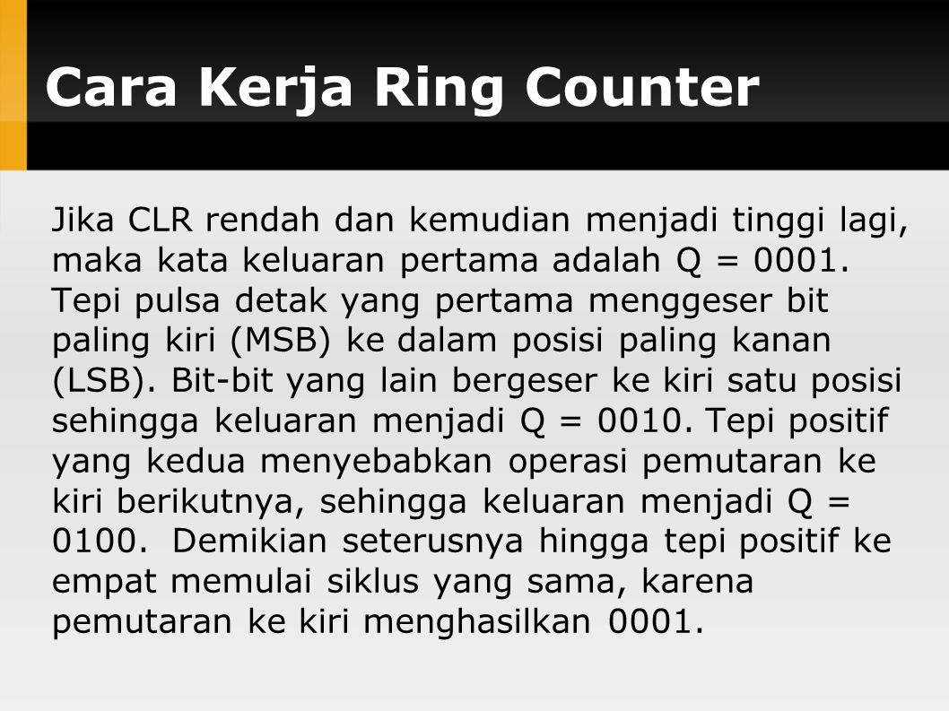 Cara Kerja Ring Counter