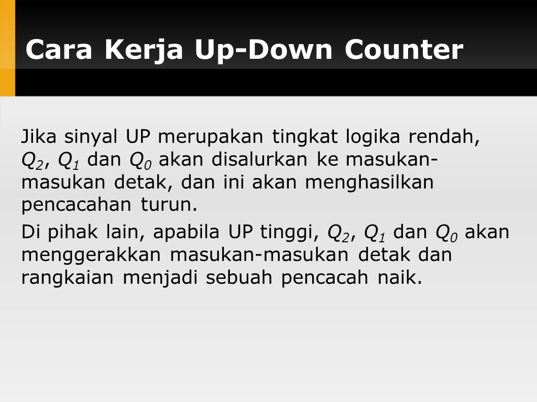 Cara Kerja Up-Down Counter