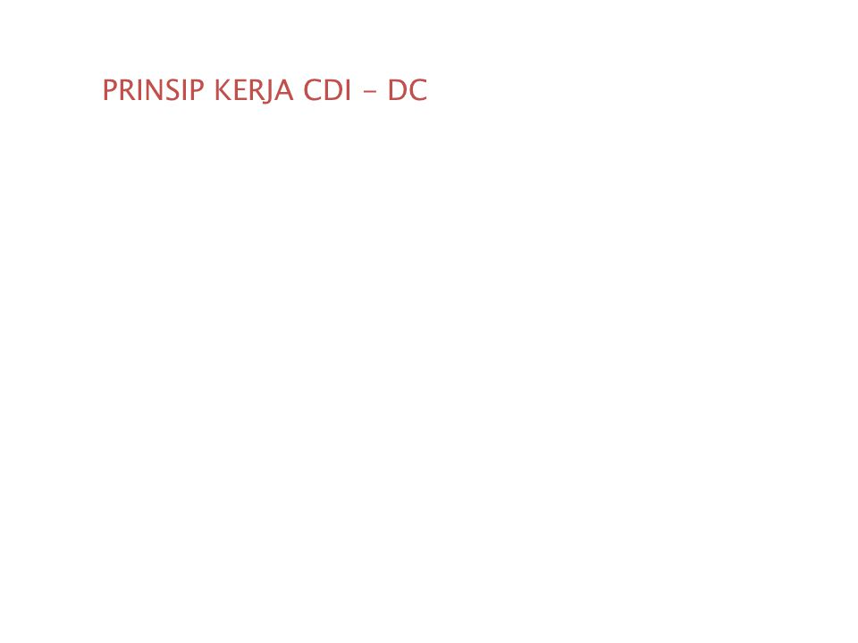 PRINSIP KERJA CDI - DC Penjelasan prinsip kerja CDI DC