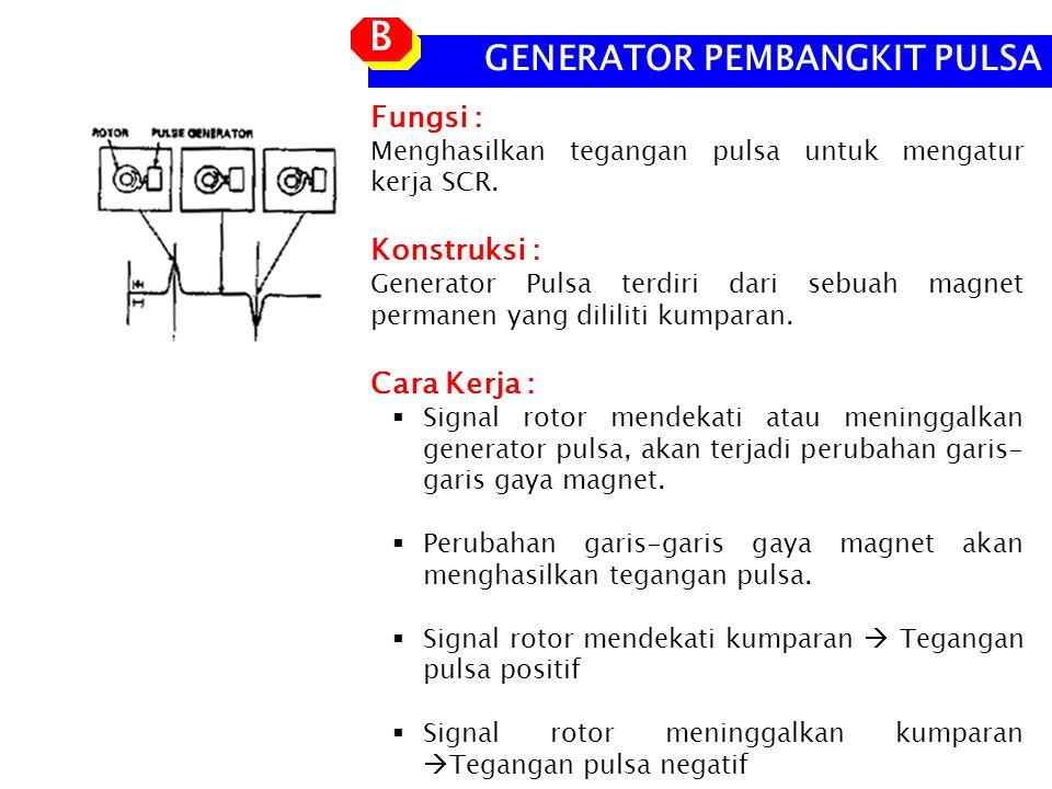 B GENERATOR PEMBANGKIT PULSA Fungsi : Konstruksi : Cara Kerja :