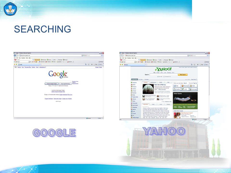 SEARCHING YAHOO GOOGLE