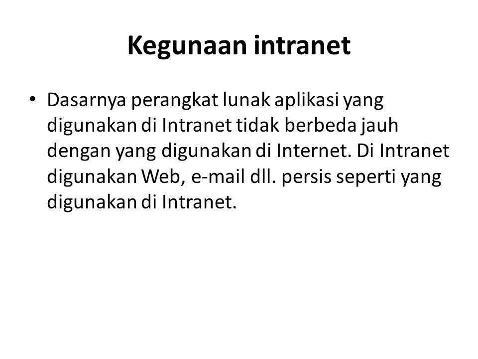 Kegunaan intranet