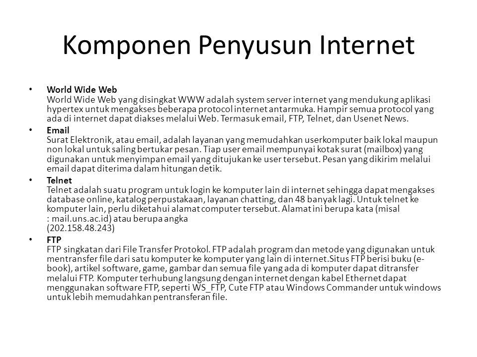 Komponen Penyusun Internet