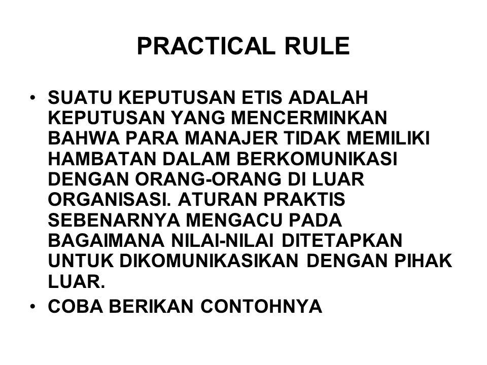 PRACTICAL RULE