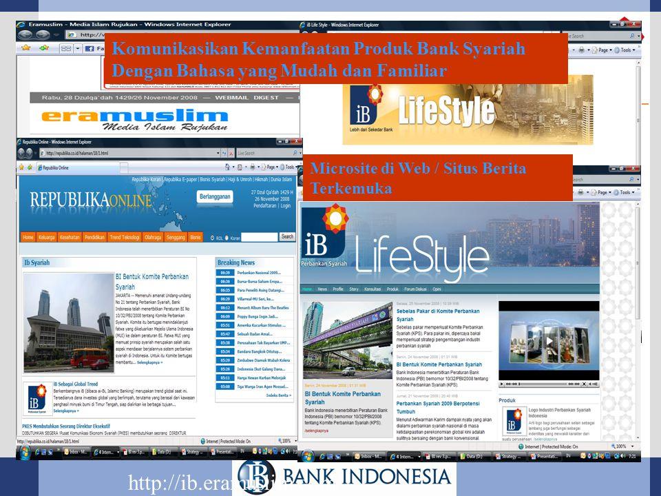 http://ib.eramuslim.com/ Komunikasikan Kemanfaatan Produk Bank Syariah