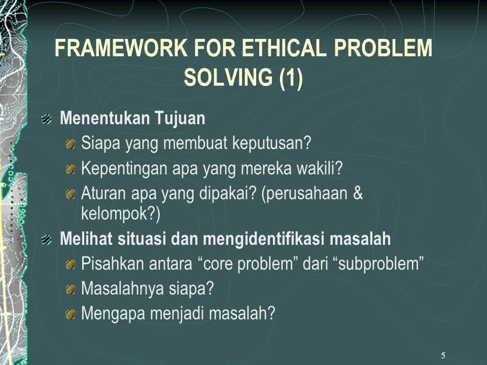 FRAMEWORK FOR ETHICAL PROBLEM SOLVING (1)