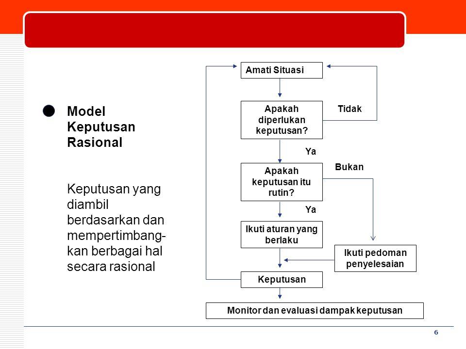 Model Keputusan Rasional
