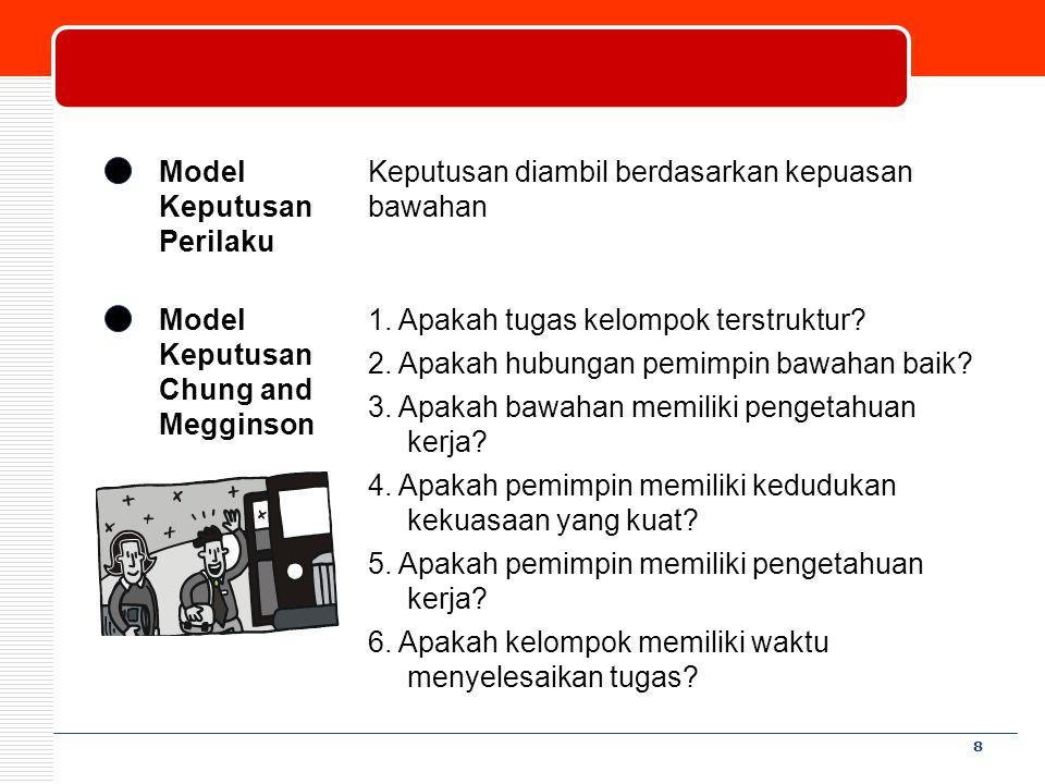 Model Keputusan Perilaku