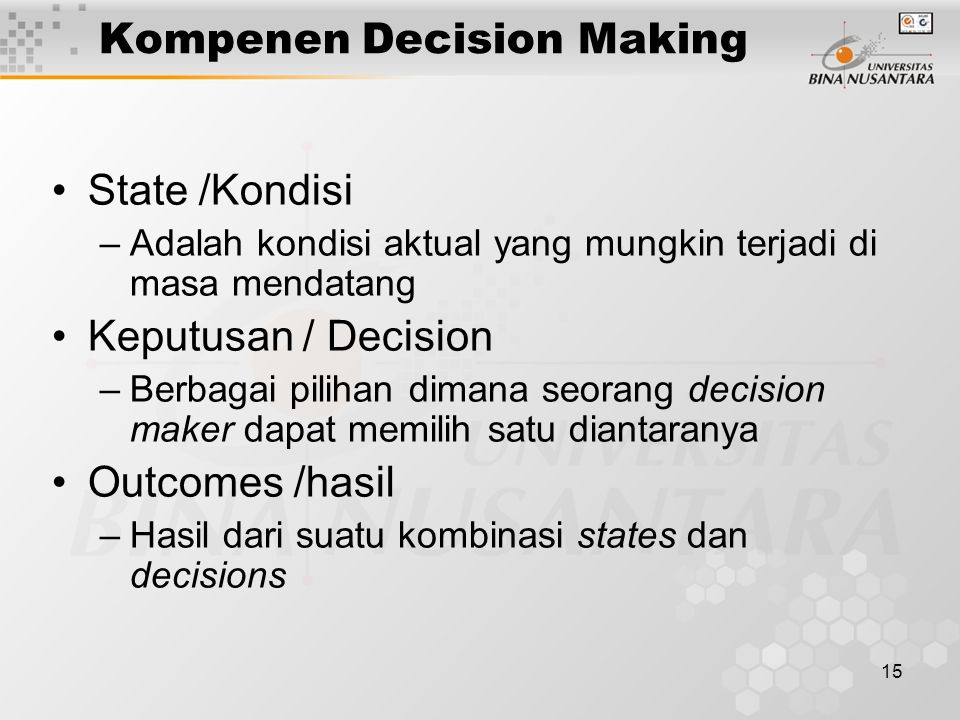 Kompenen Decision Making