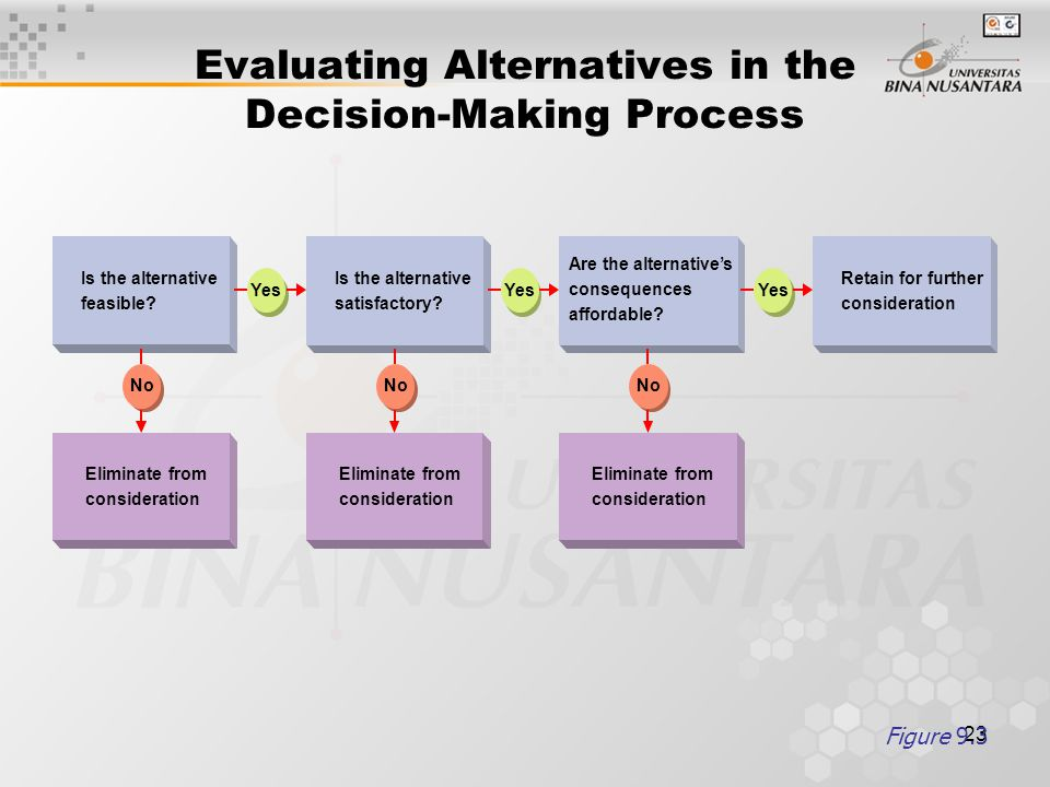 Evaluating Alternatives in the Decision-Making Process
