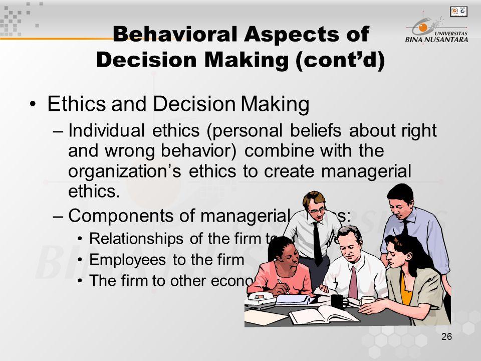 behavioral aspects in standard costing