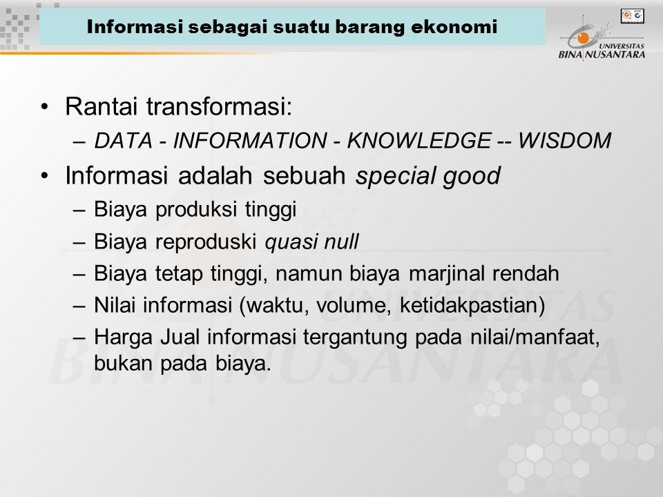 Informasi sebagai suatu barang ekonomi