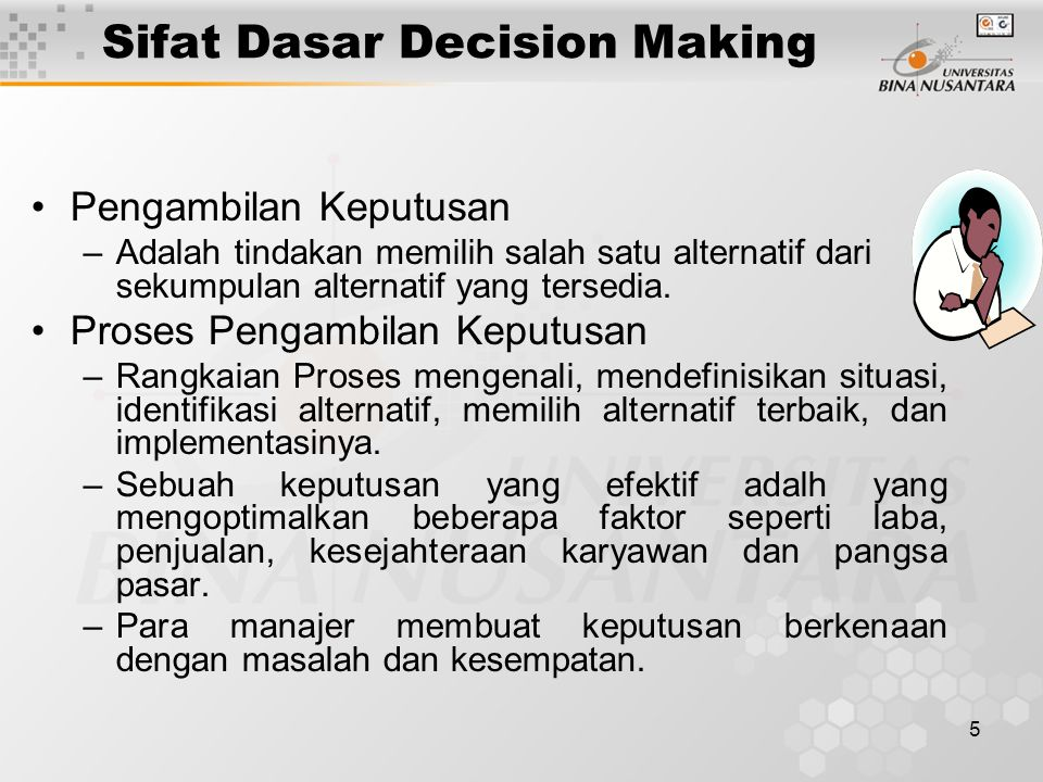 Sifat Dasar Decision Making