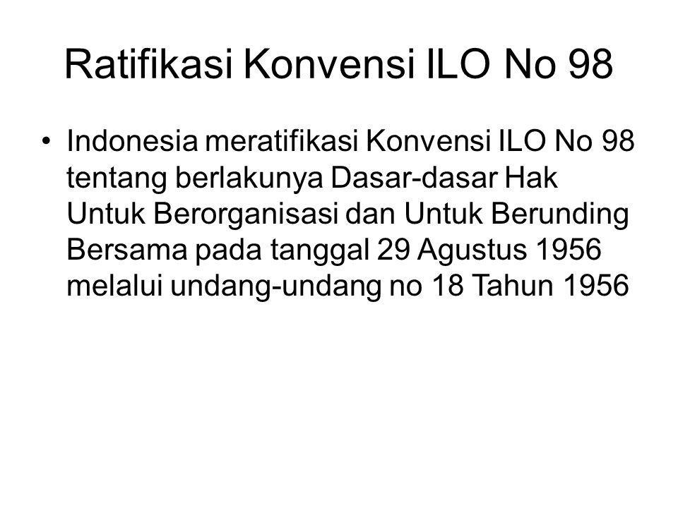 Ratifikasi Konvensi ILO No 98