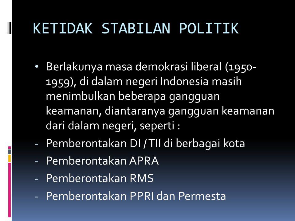 KETIDAK STABILAN POLITIK
