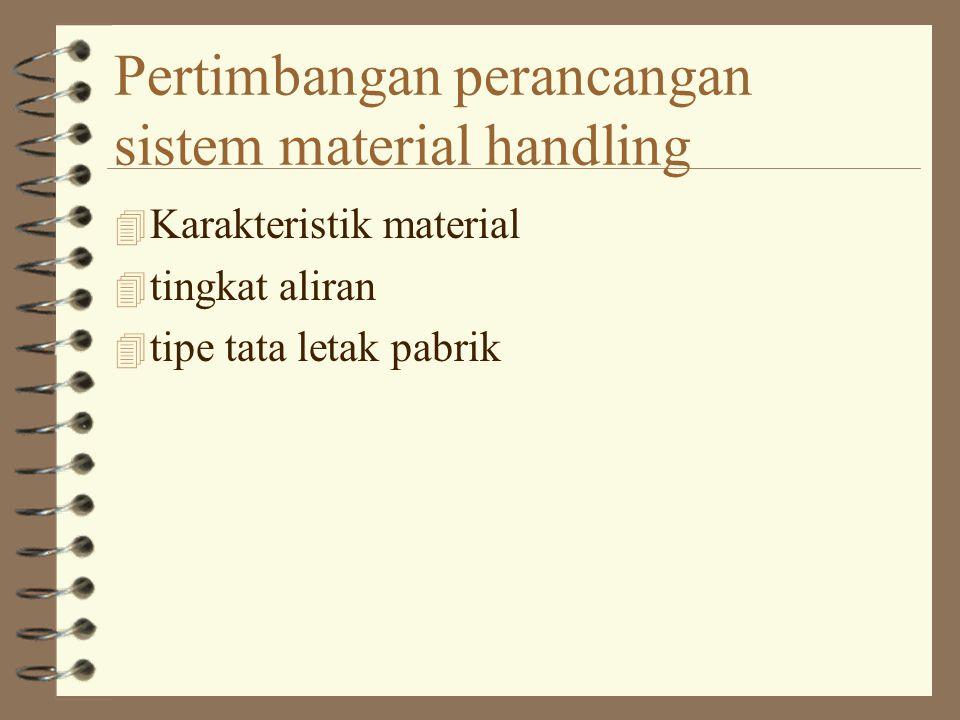 Pertimbangan perancangan sistem material handling