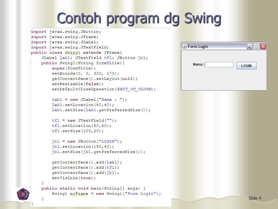 Contoh program dg Swing