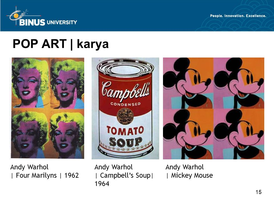POP ART | karya Andy Warhol | Four Marilyns | 1962 Andy Warhol