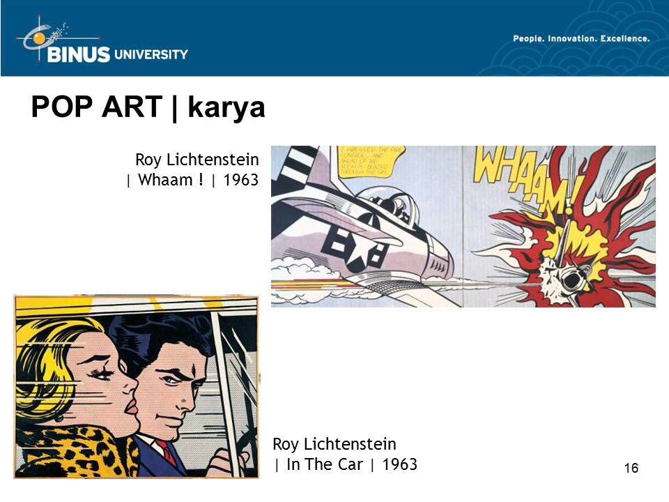 POP ART | karya Roy Lichtenstein | Whaam ! | 1963 Roy Lichtenstein