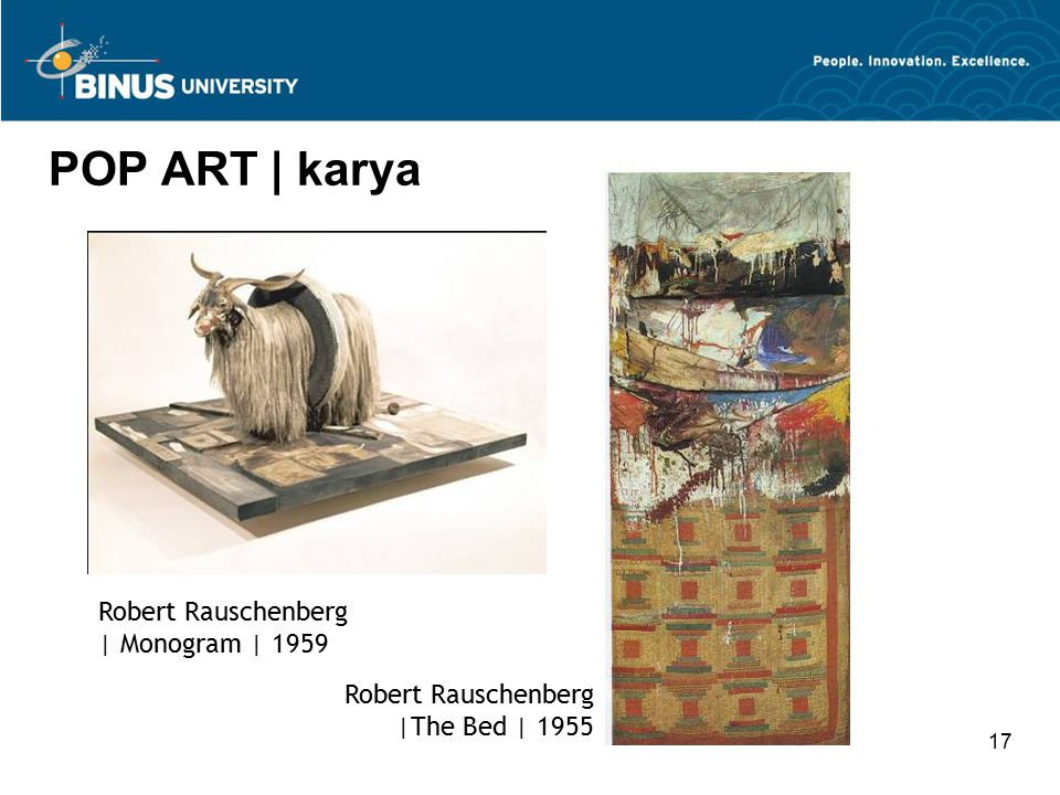 POP ART | karya Robert Rauschenberg | Monogram | 1959