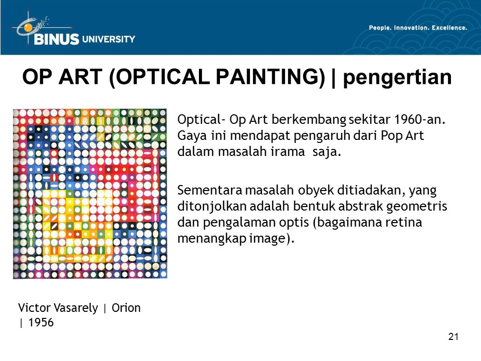 OP ART (OPTICAL PAINTING) | pengertian