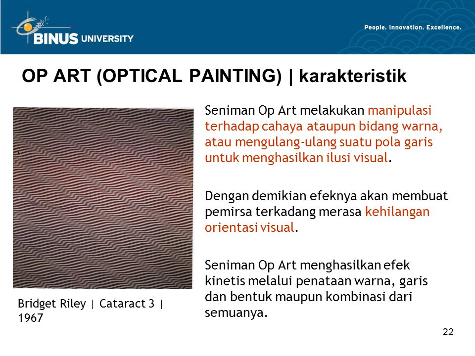 OP ART (OPTICAL PAINTING) | karakteristik