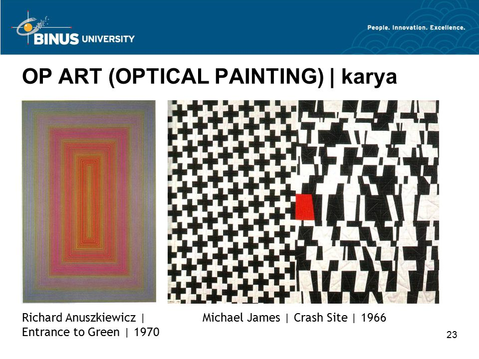 OP ART (OPTICAL PAINTING) | karya