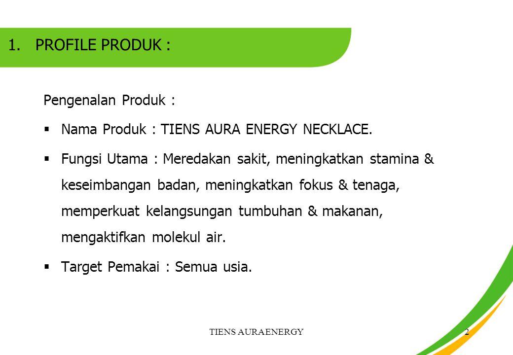 PROFILE PRODUK : Pengenalan Produk :